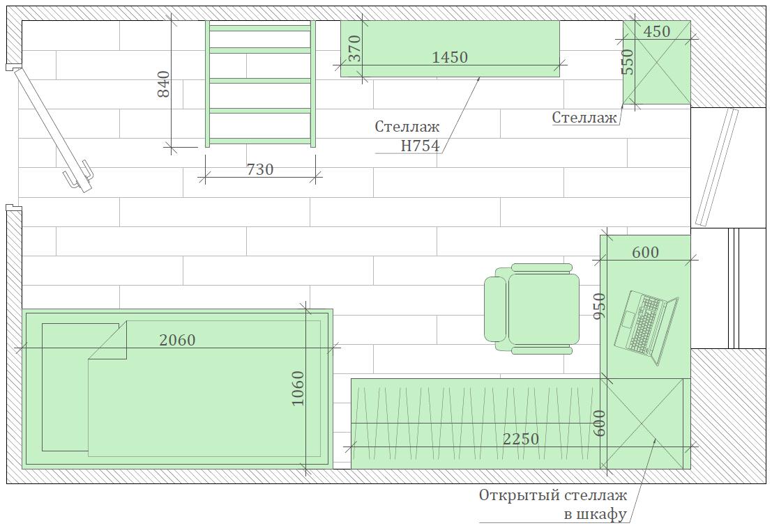 Мебель в детскую спальню девочки проект 3553-5