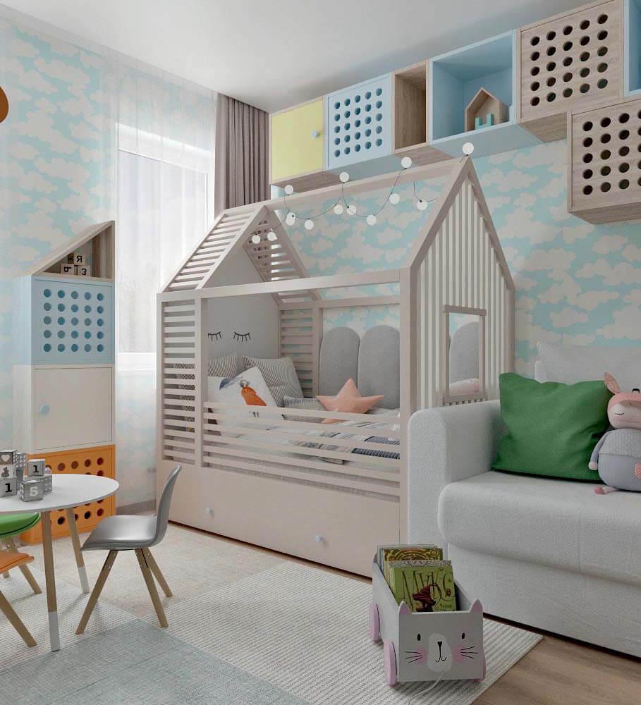 Мебель в детскую спальню девочки проект 4205-1