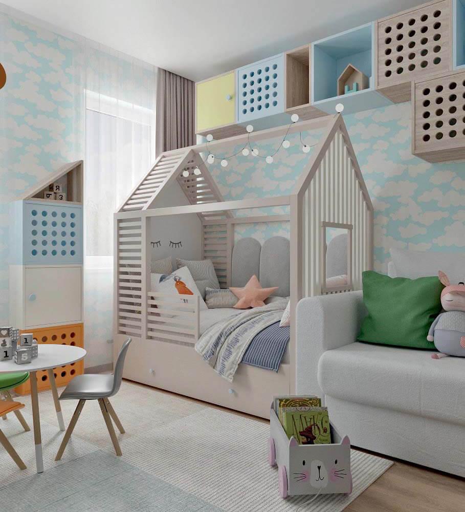 Мебель в детскую спальню девочки проект 4205-2