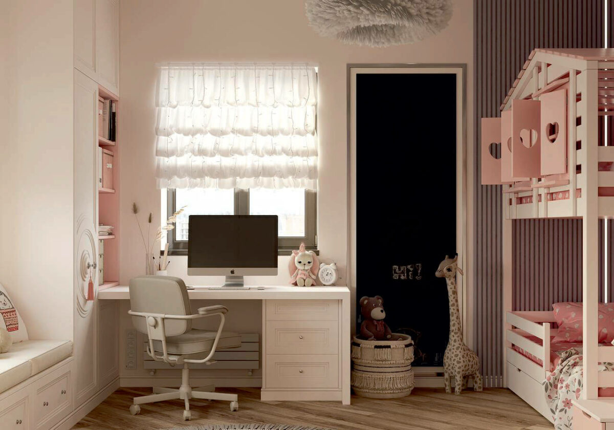 Мебель в детскую спальню девочки проект 4337-1