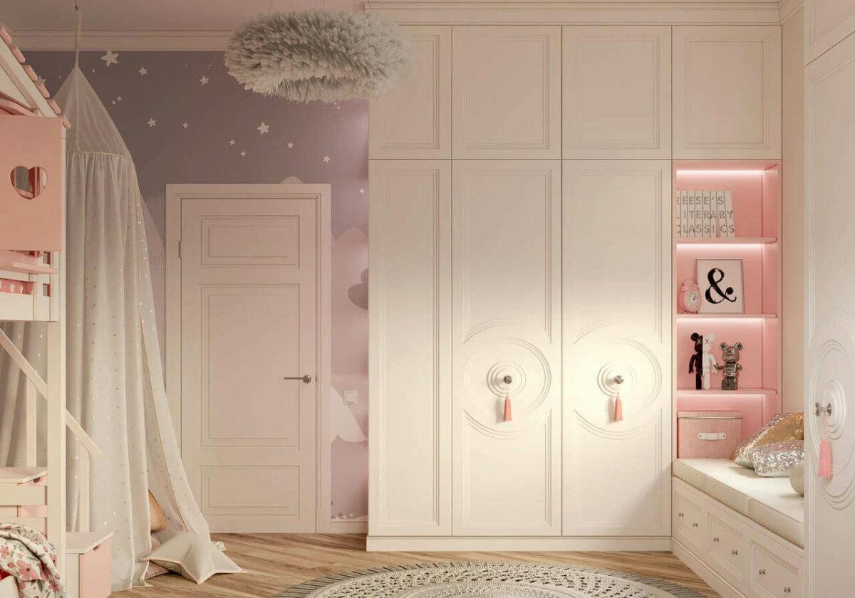 Мебель в детскую спальню девочки проект 4337-4