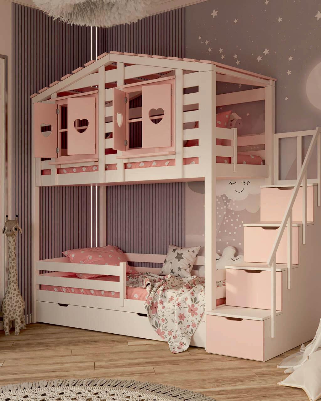 Мебель в детскую спальню девочки проект 4337-5