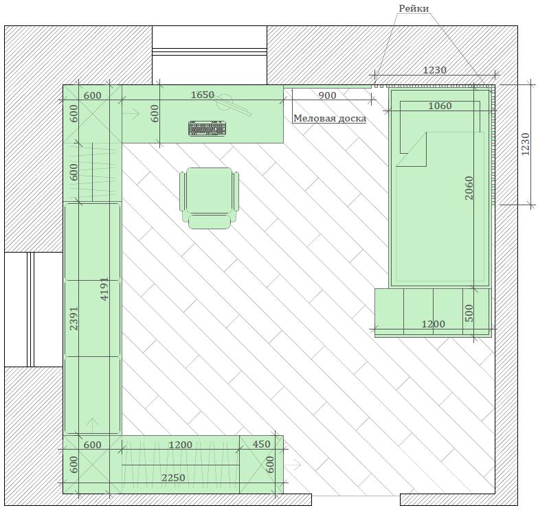 Мебель в детскую спальню девочки проект 4337-6