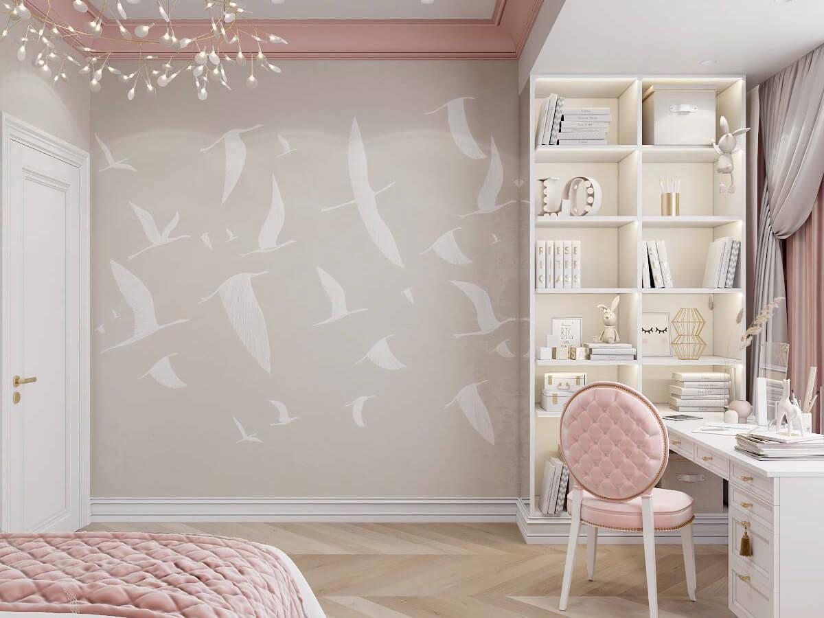 Мебель в детскую спальню девочки 6-9 лет проект 3895-1-3