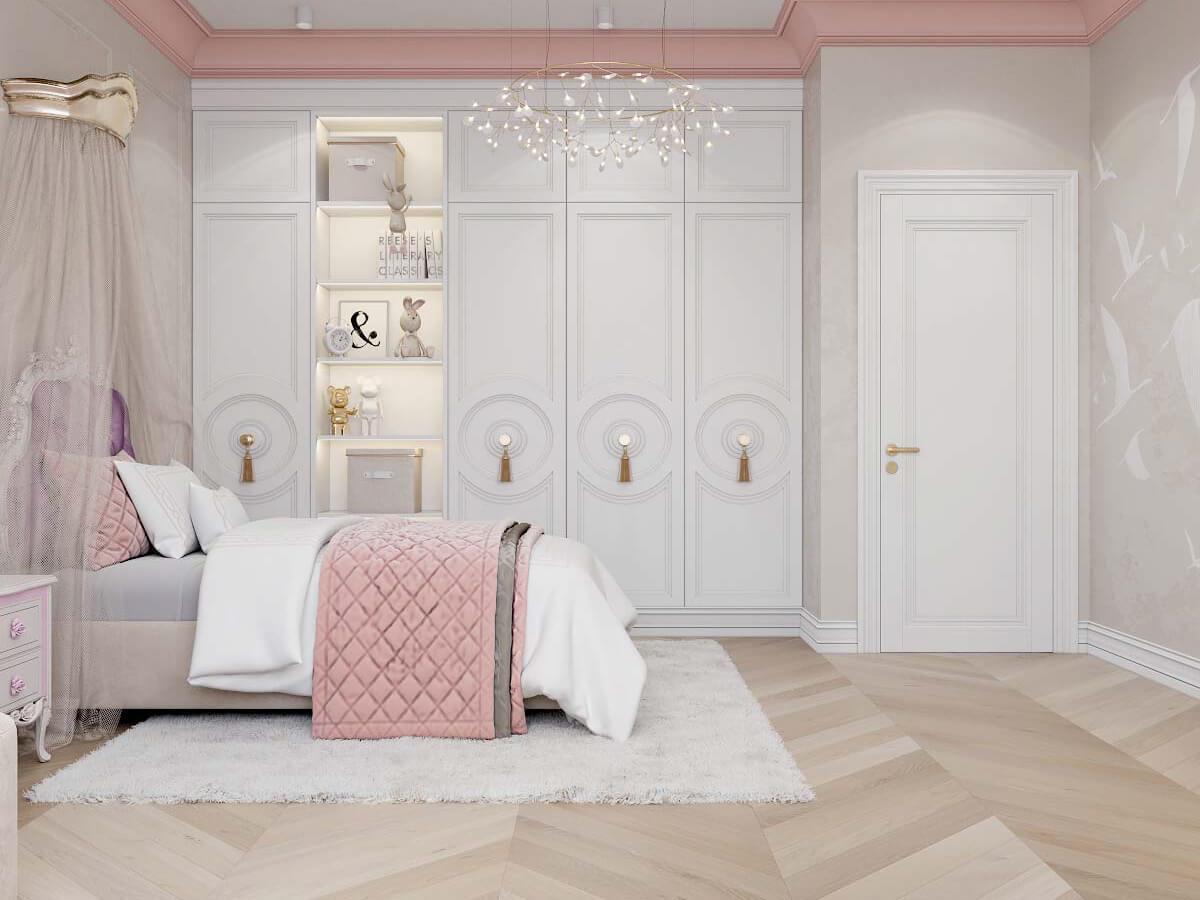 Мебель в детскую спальню девочки 6-9 лет проект 3895-1-4