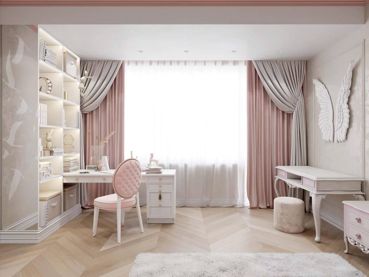Мебель в детскую спальню девочки 6-9 лет проект 3895-1-5