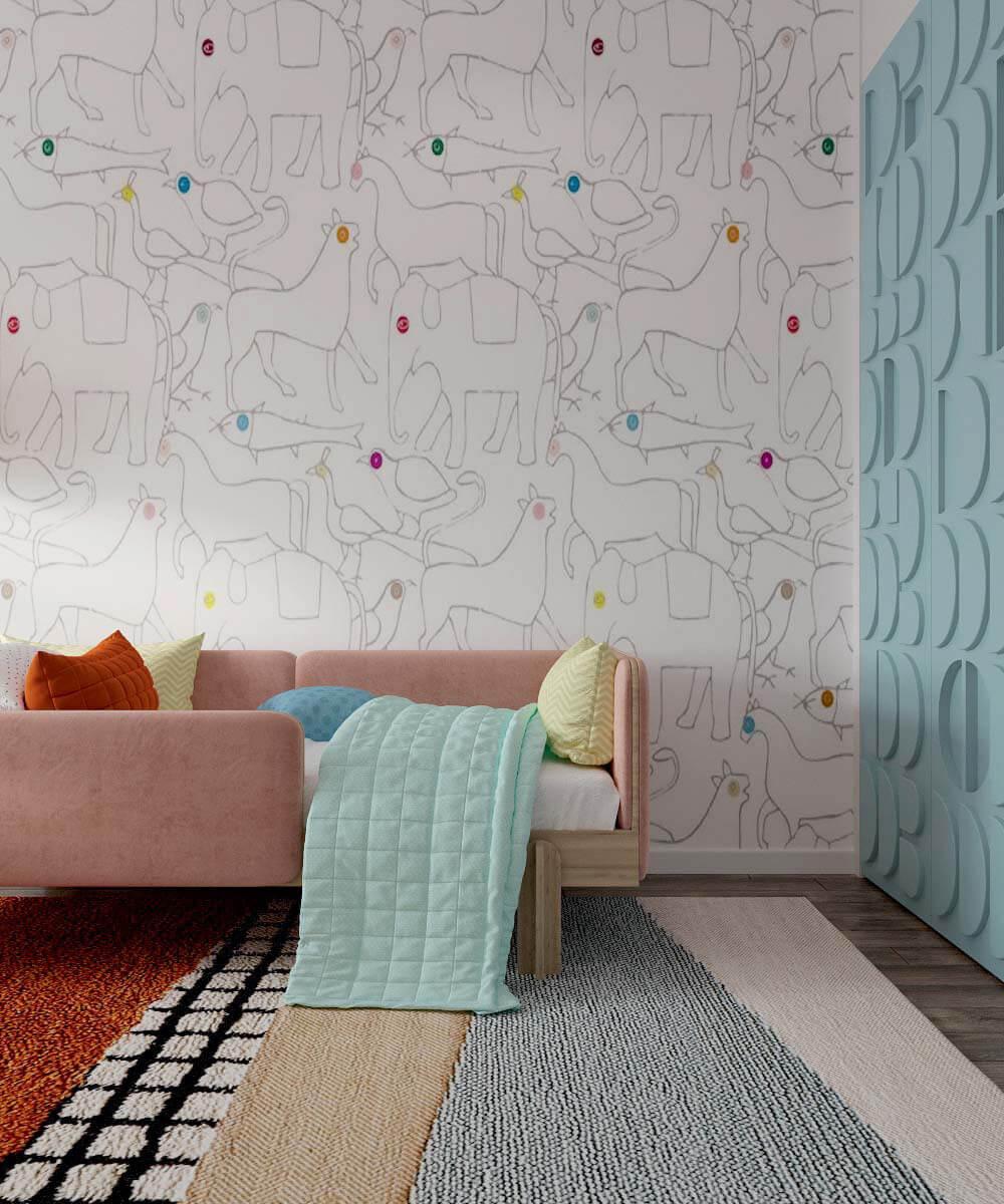 Мебель в детскую спальню девочки 6 лет проект 3775-2-6