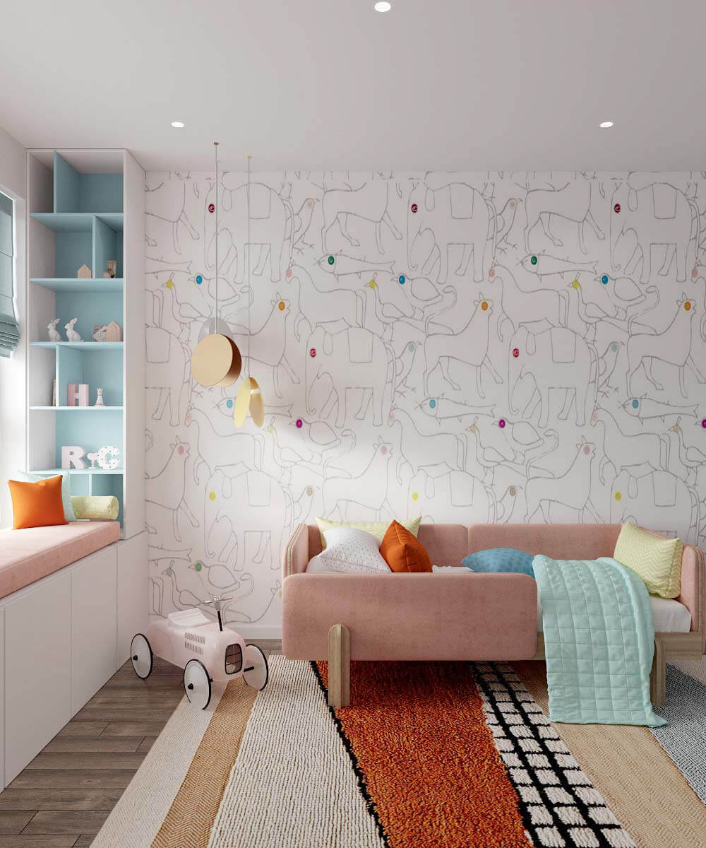 Мебель в детскую спальню девочки 6 лет проект 3775-2-7