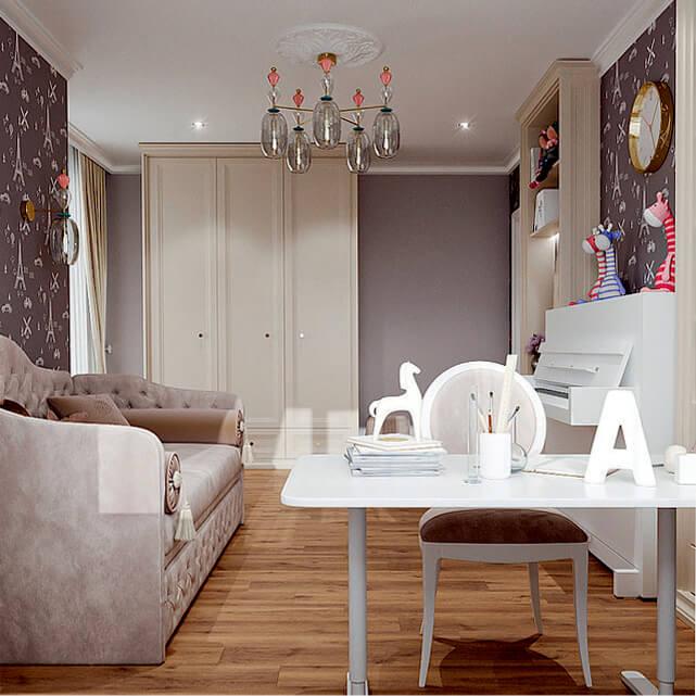 Мебель в детскую спальню девочки-подростка проект 4807-1