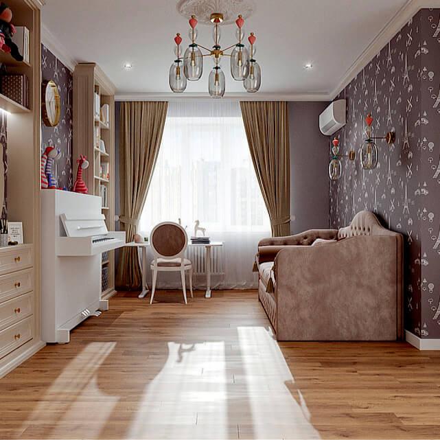 Мебель в детскую спальню девочки-подростка проект 4807-2