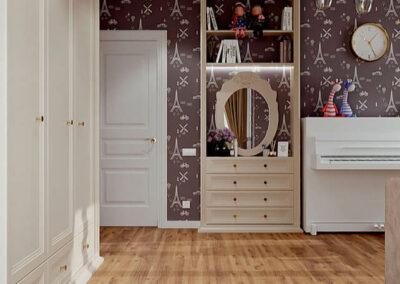 Удобная мебель в детскую спальню девочки-подростка — проект 4807