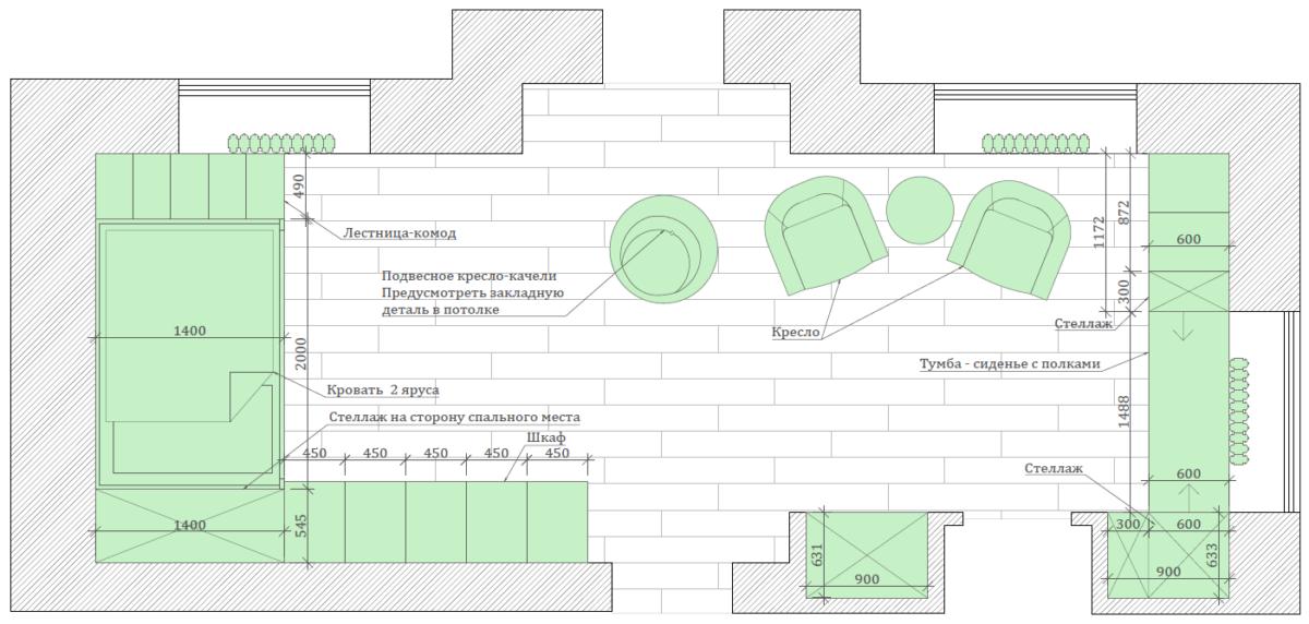Мебель в детскую спальню для девочки проект 3461-3