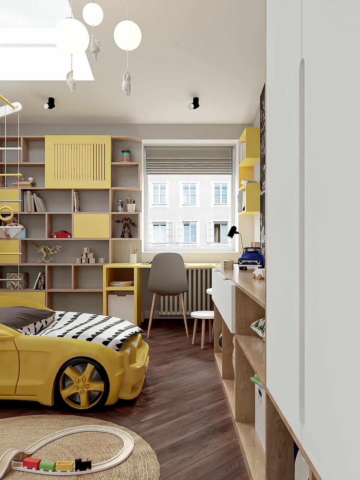 Мебель в детскую спальню мальчика 2-5 лет проект 3973-1-1