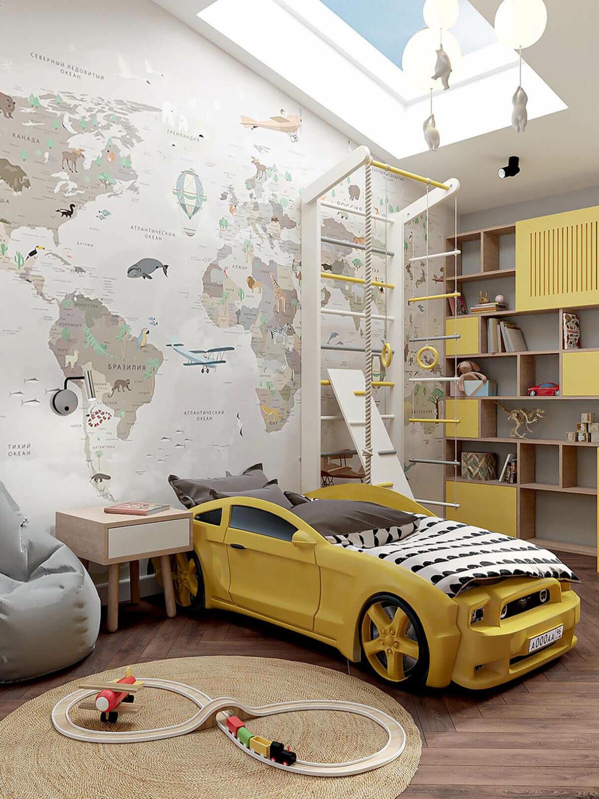 Мебель в детскую спальню мальчика 2-5 лет проект 3973-1-2
