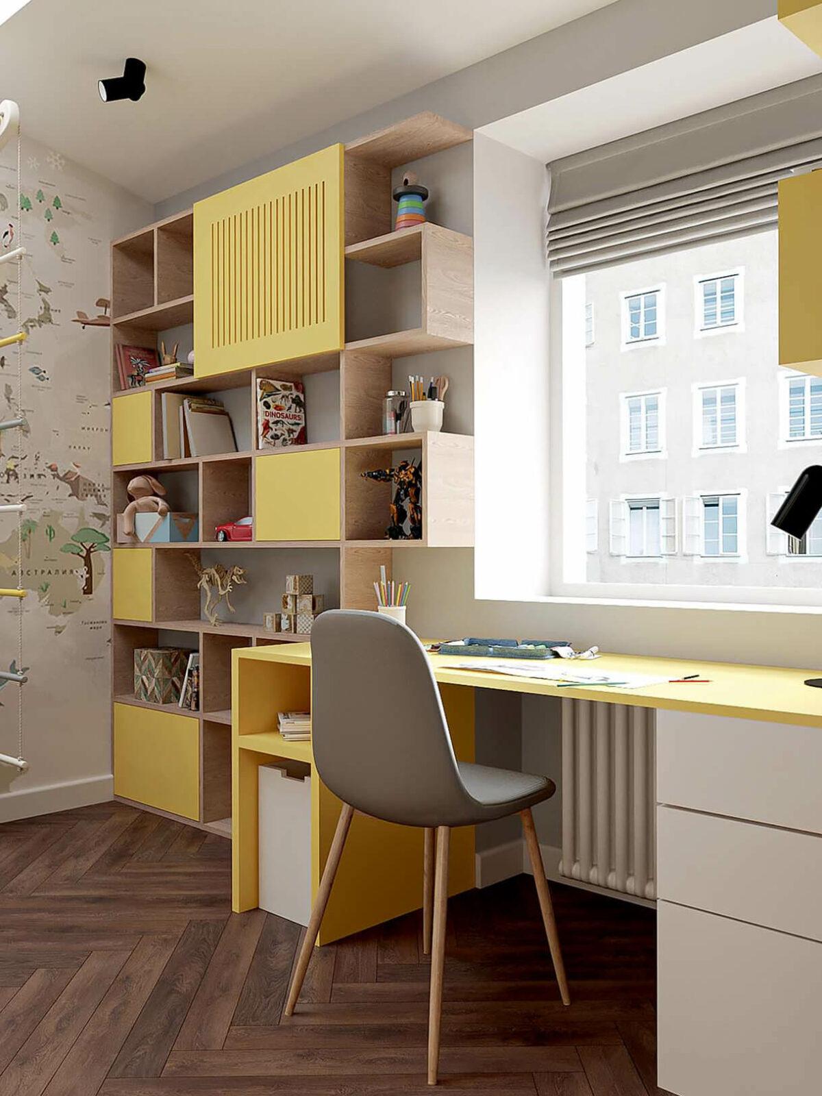 Мебель в детскую спальню мальчика 2-5 лет проект 3973-1-4