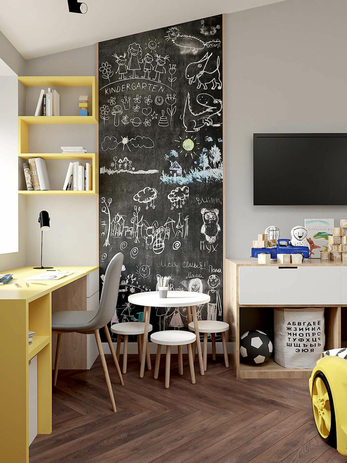 Мебель в детскую спальню мальчика 2-5 лет проект 3973-1-6
