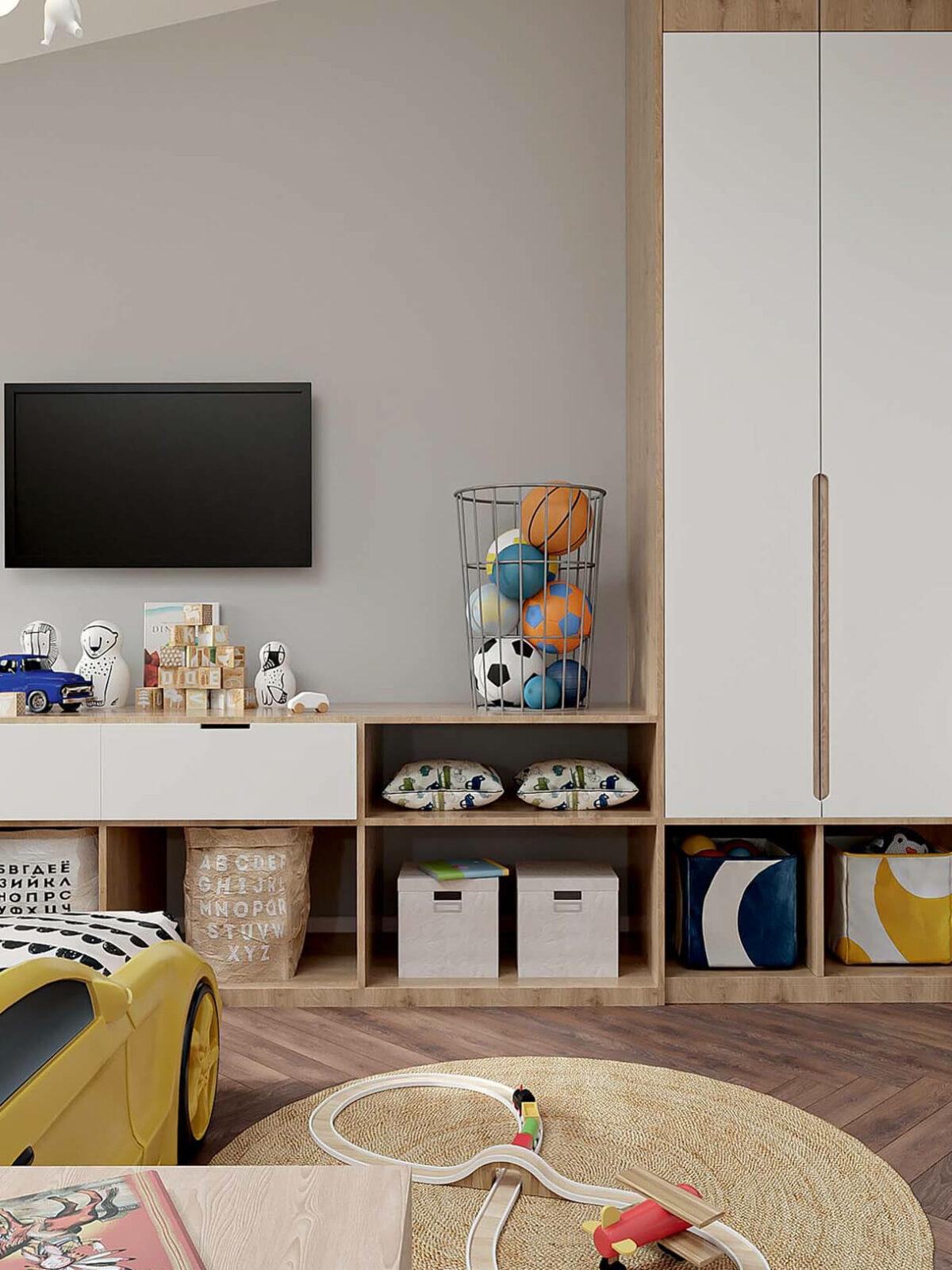 Мебель в детскую спальню мальчика 2-5 лет проект 3973-1-7