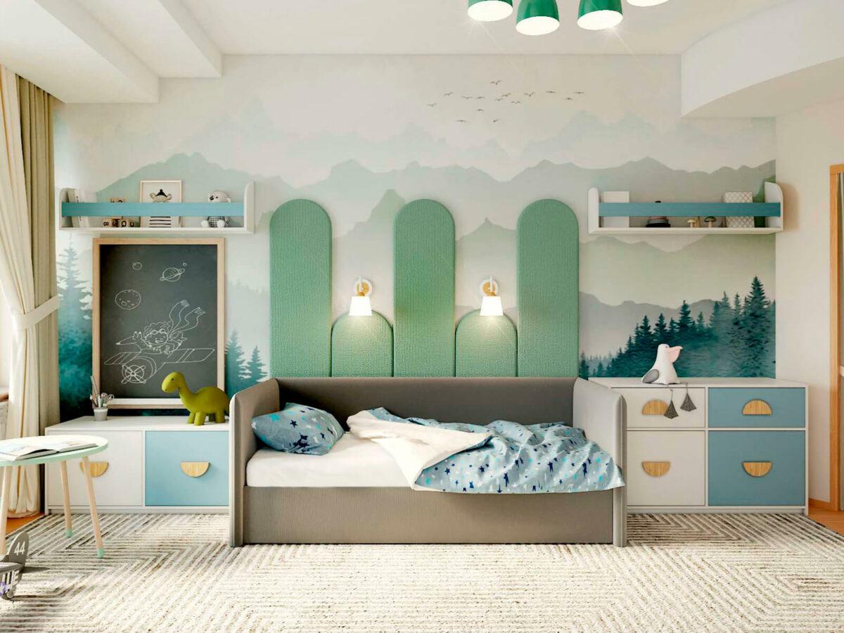 Мебель в детскую спальню мальчика 3-6 лет проект 5629-1