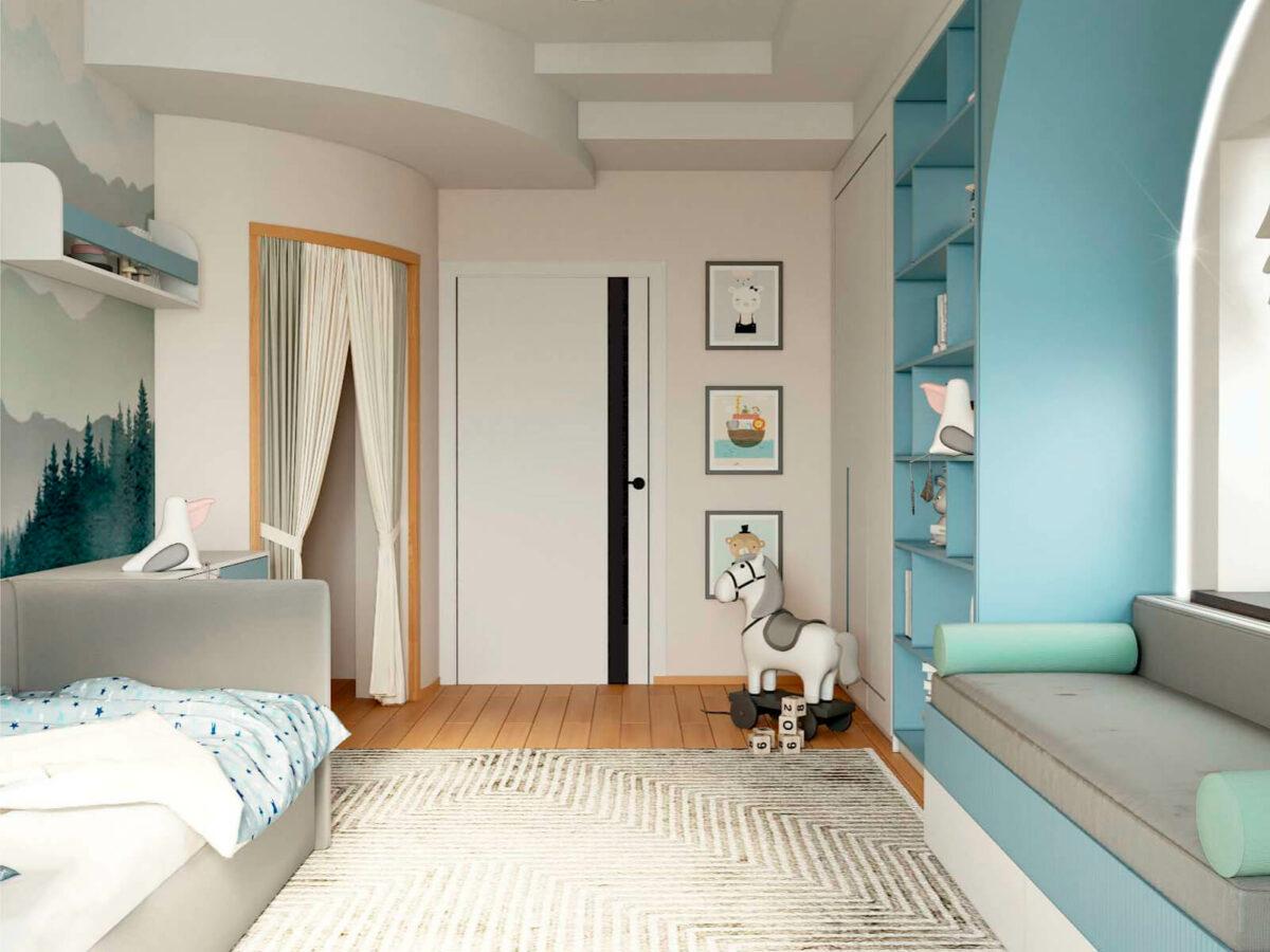 Мебель в детскую спальню мальчика 3-6 лет проект 5629-3