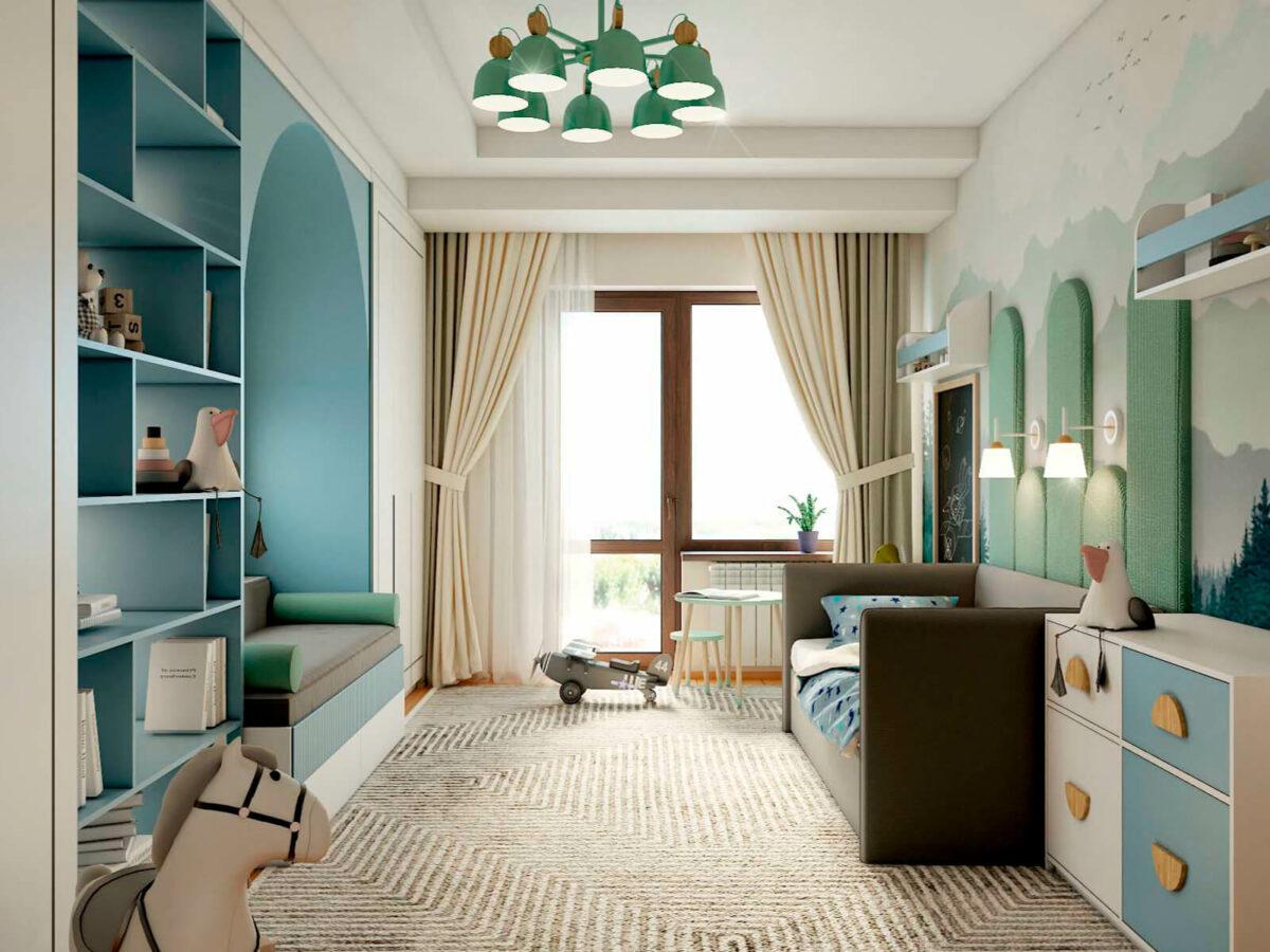 Мебель в детскую спальню мальчика 3-6 лет проект 5629-4