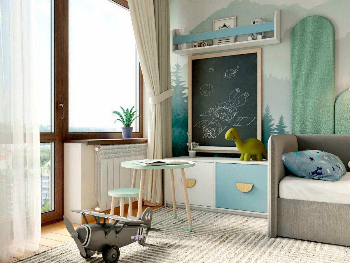 Мебель в детскую спальню мальчика 3-6 лет проект 5629-6