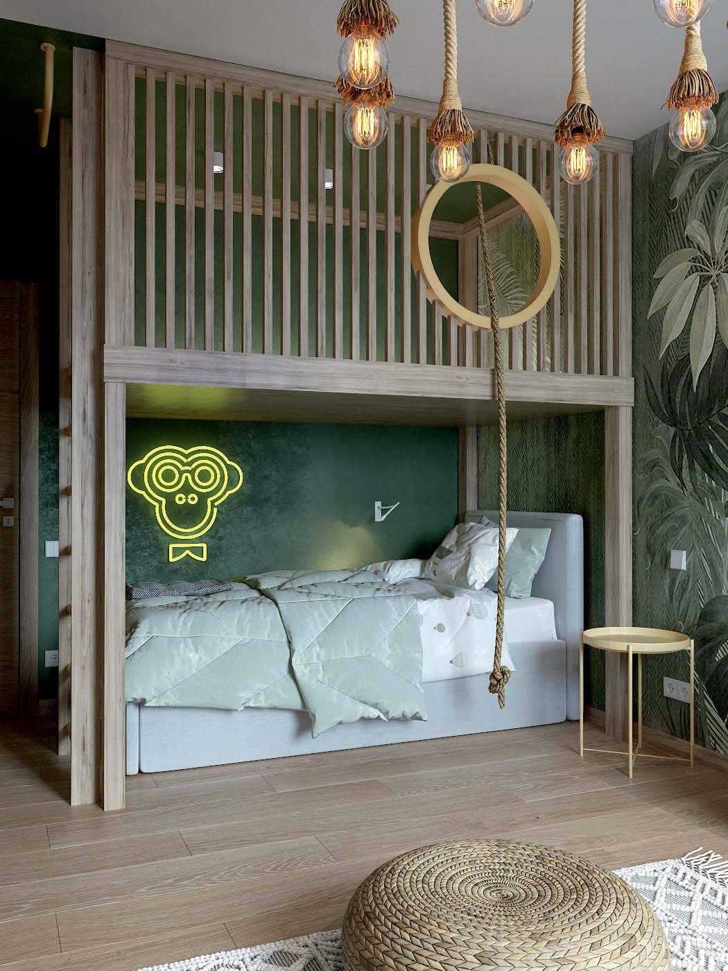 Мебель в детскую спальню мальчика 4 лет проект 3433-1-1