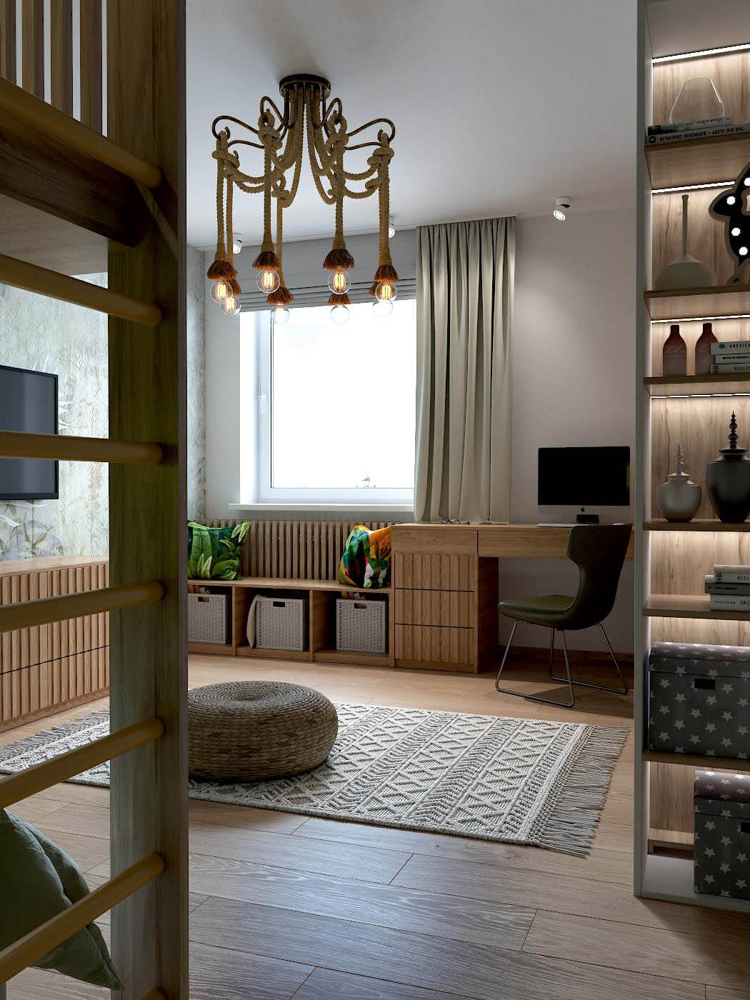 Мебель в детскую спальню мальчика 4 лет проект 3433-1-2