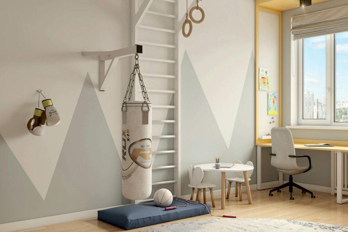 Мебель в детскую спальню мальчика проект 4453-2