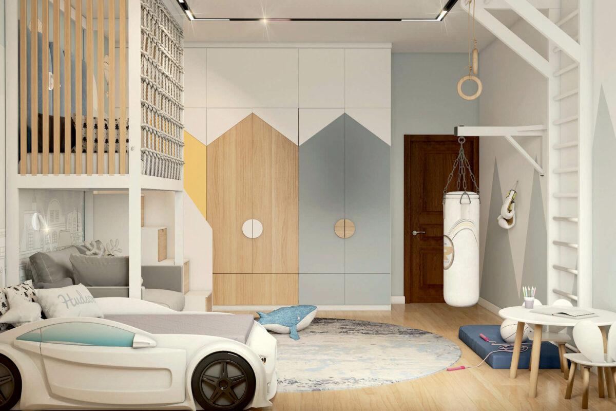 Мебель в детскую спальню мальчика проект 4453-3