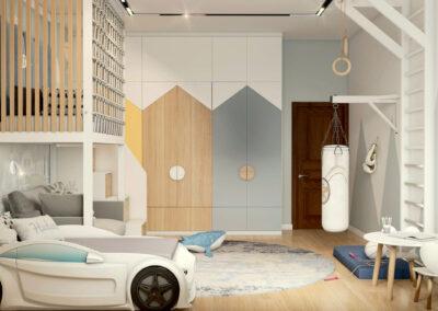 Мебель в детскую спальню мальчика 5-9 лет — проект 4453