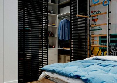 Стильная мебель в детскую спальню мальчика-школьника — проект 4865
