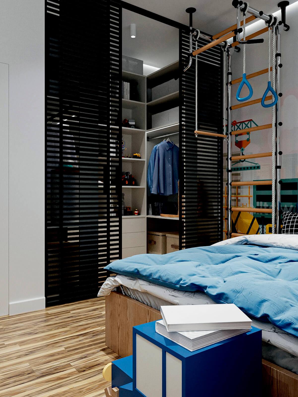 Мебель в детскую спальню мальчика-школьника проект 4865-5