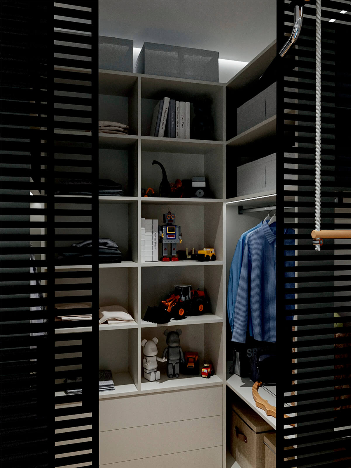 Мебель в детскую спальню мальчика-школьника проект 4865-7