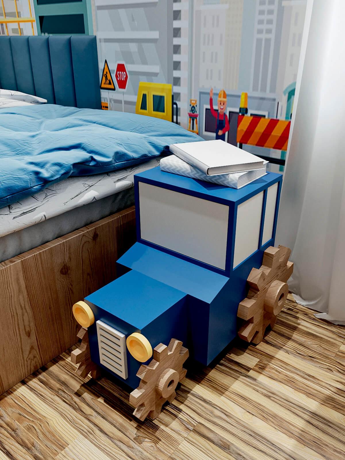Мебель в детскую спальню мальчика-школьника проект 4865-8