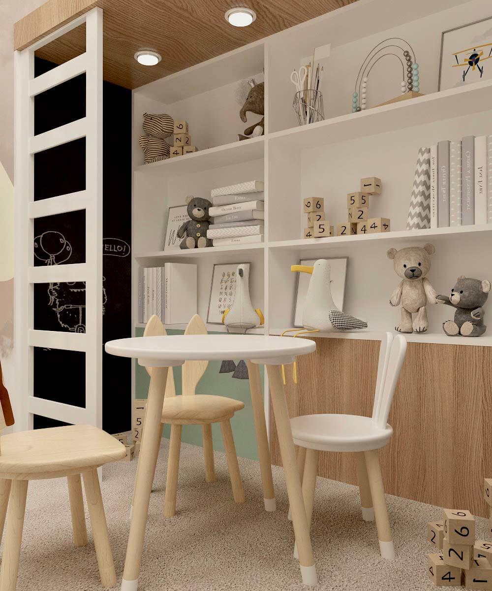 Мебель в игровую для 2 мальчиков проект 3459-2-6