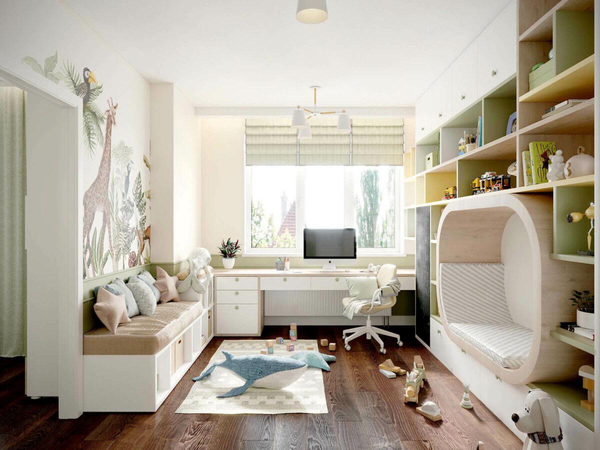 Мебель в игровую комнату девочки проект 3509-1