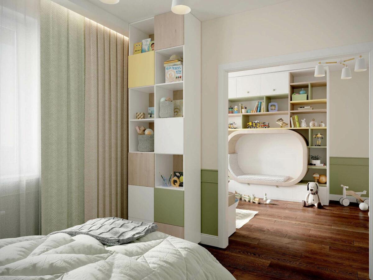 Мебель в игровую комнату девочки проект 3509-4