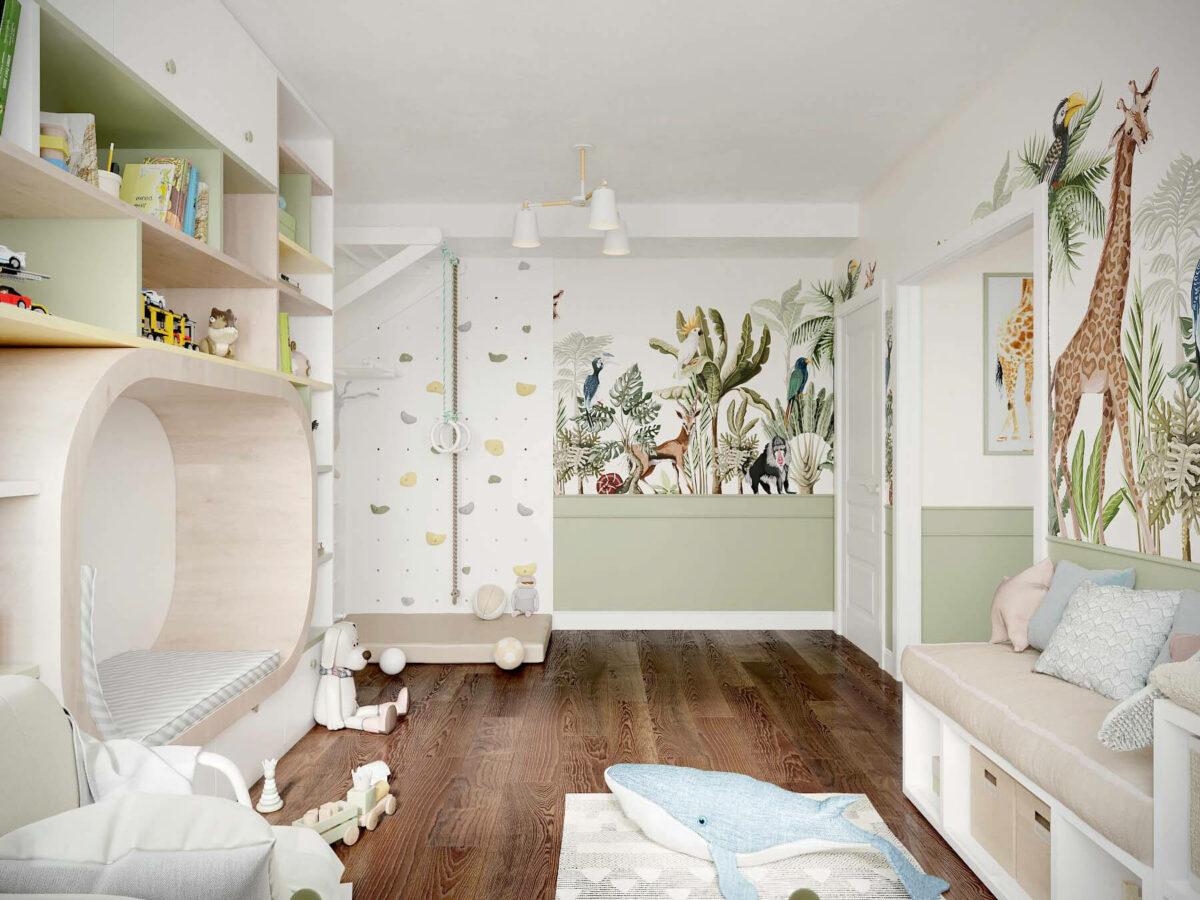 Мебель в игровую комнату девочки проект 3509-6