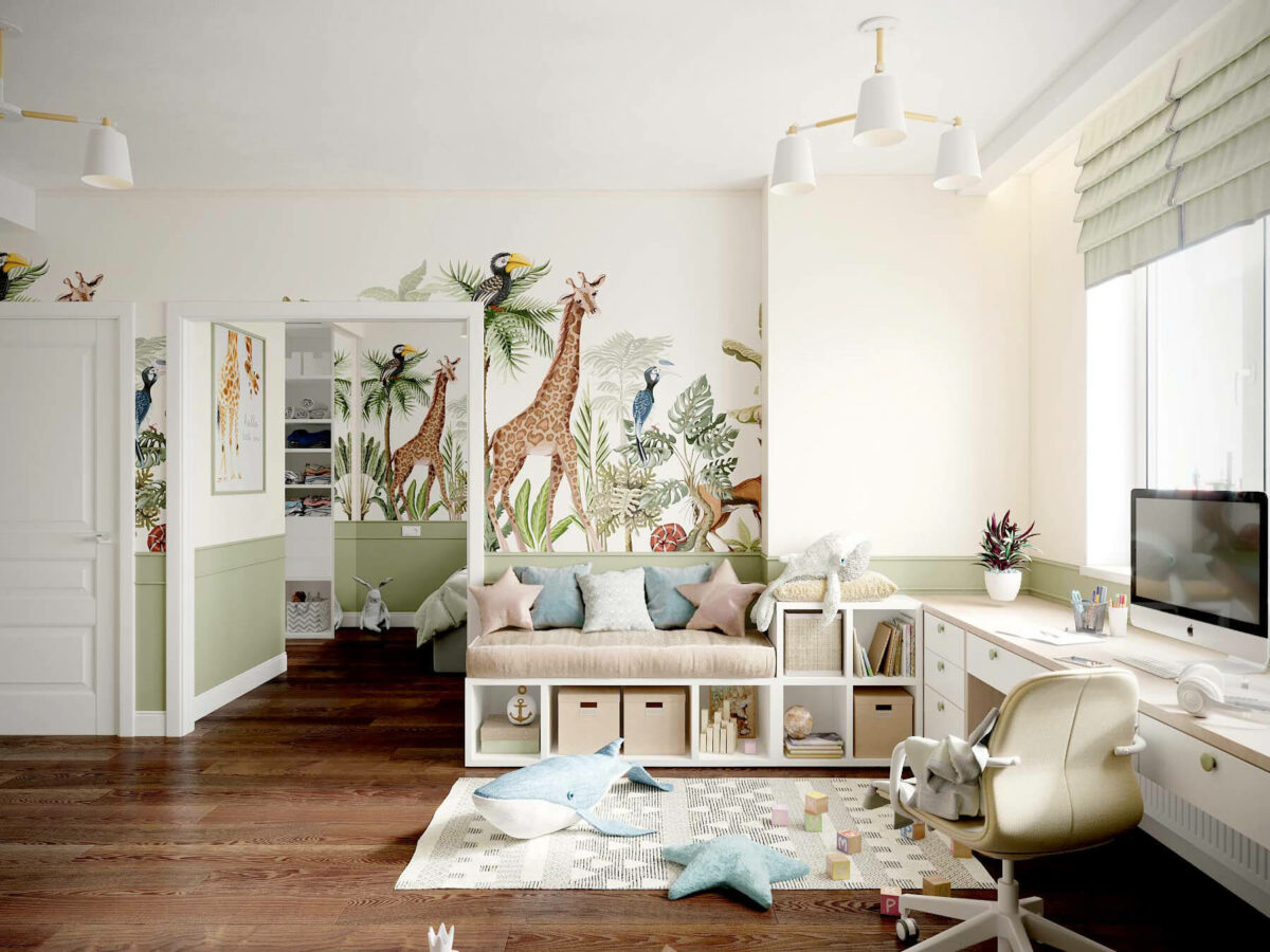 Мебель в игровую комнату девочки проект 3509-8