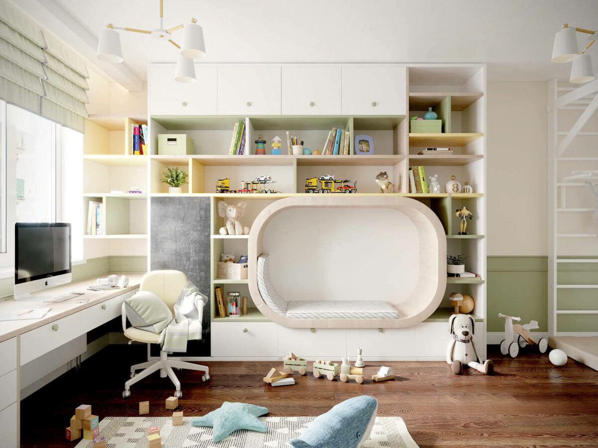 Мебель в игровую комнату девочки проект 3509-9