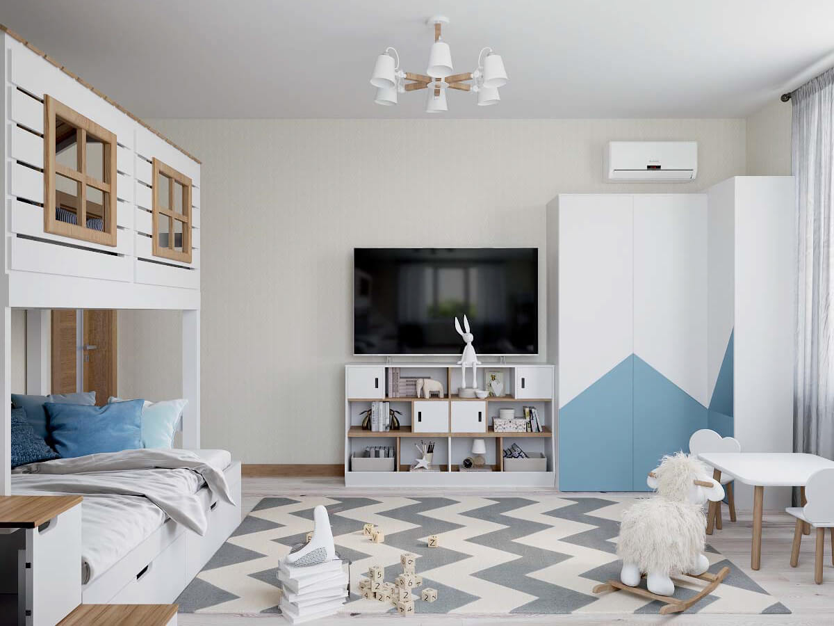 Мебель в игровую комнату мальчика проект 3915-1