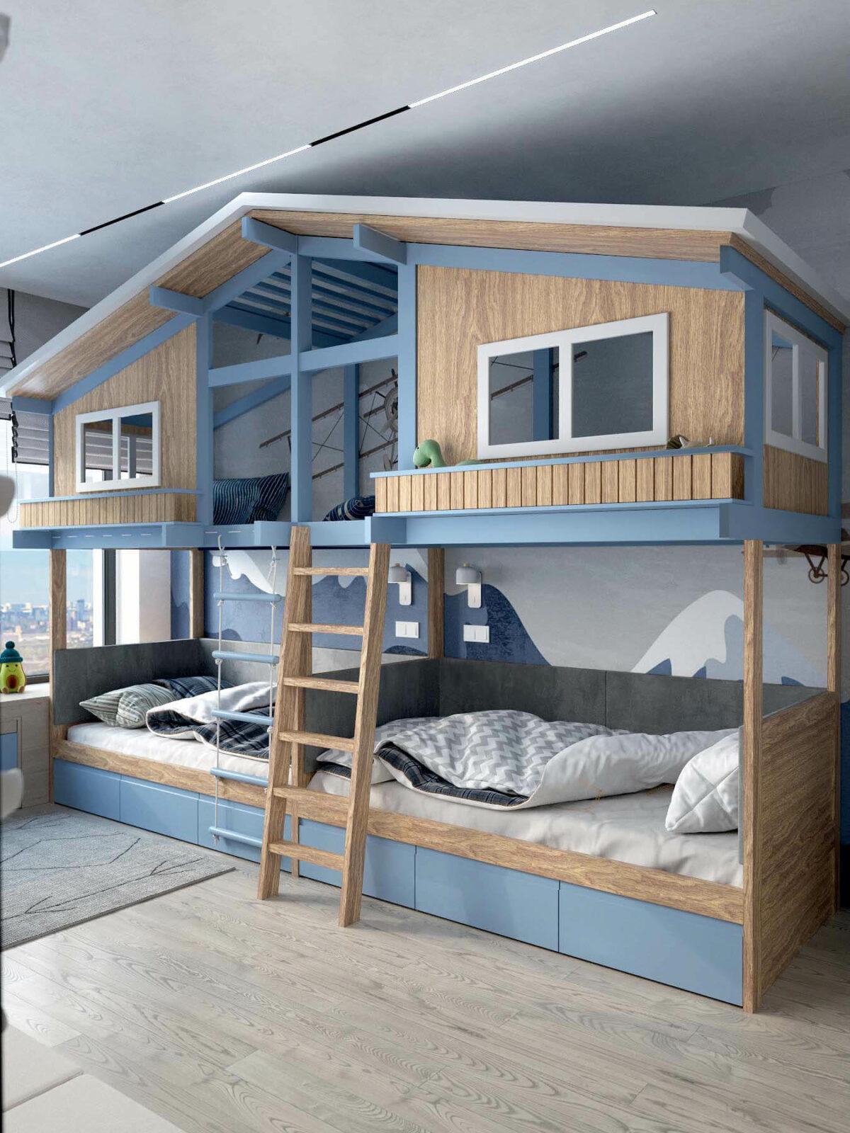 Мебель в игровую комнату мальчика 8-10 лет проект 3933-2