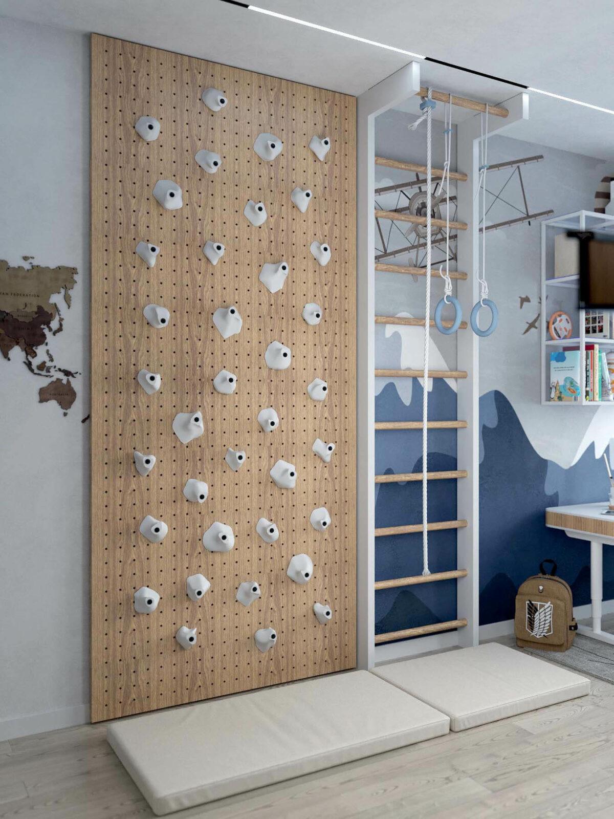 Мебель в игровую комнату мальчика 8-10 лет проект 3933-3
