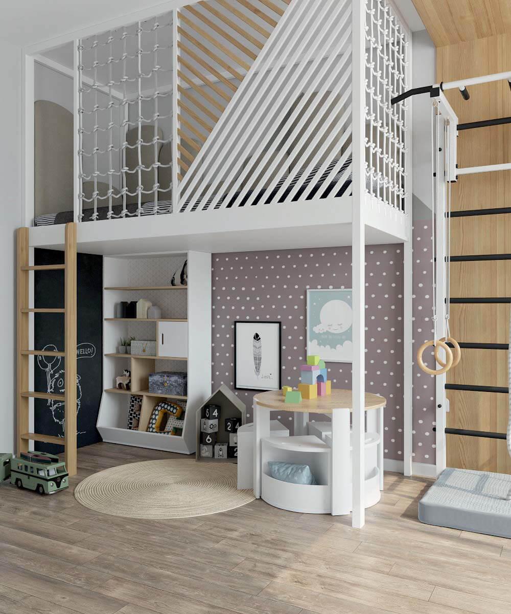 Мебель в игровую комнату мальчика-дошкольника проект 3775-1-1