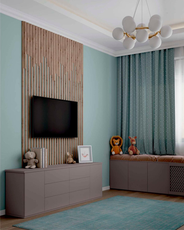 Мебель в комнату 2 девочек разного возраста проект 5557-2