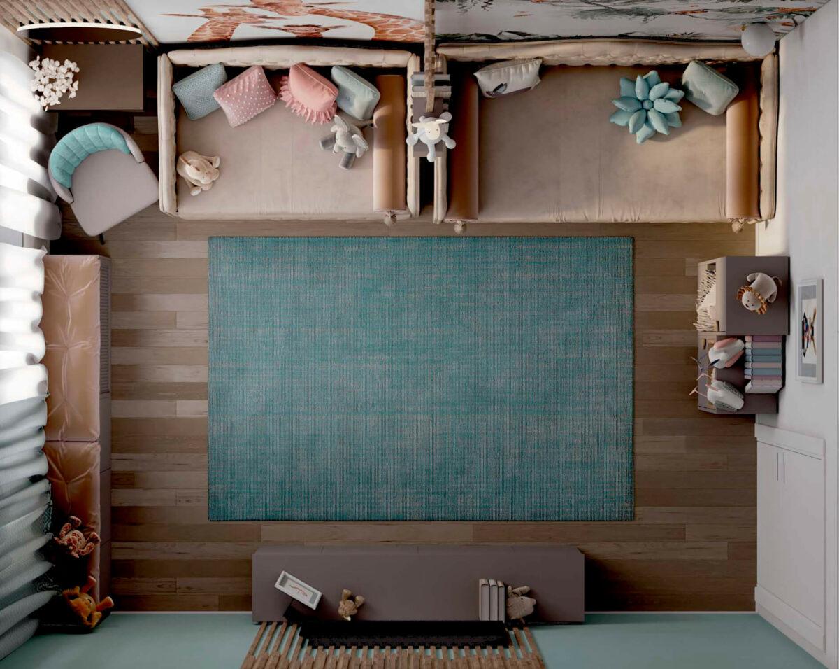 Мебель в комнату 2 девочек разного возраста проект 5557-6