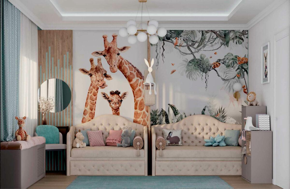 Мебель в комнату 2 девочек разного возраста проект 5557-7