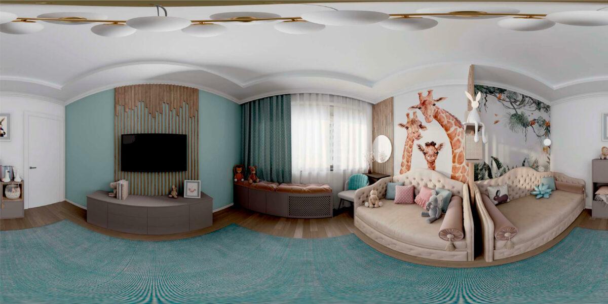 Мебель в комнату 2 девочек разного возраста проект 5557-8
