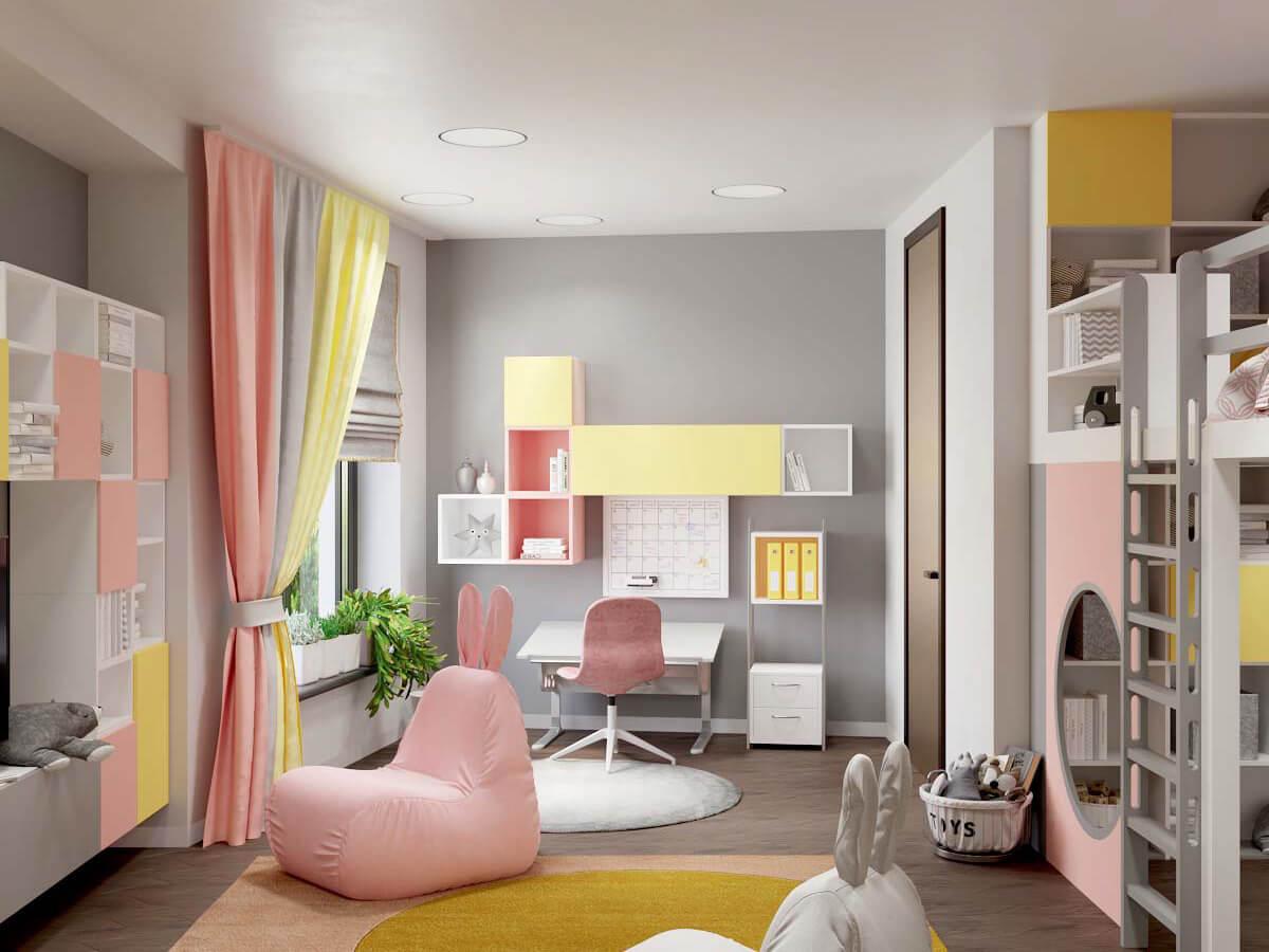 Мебель в комнату девочки 6 лет проект 3751-1