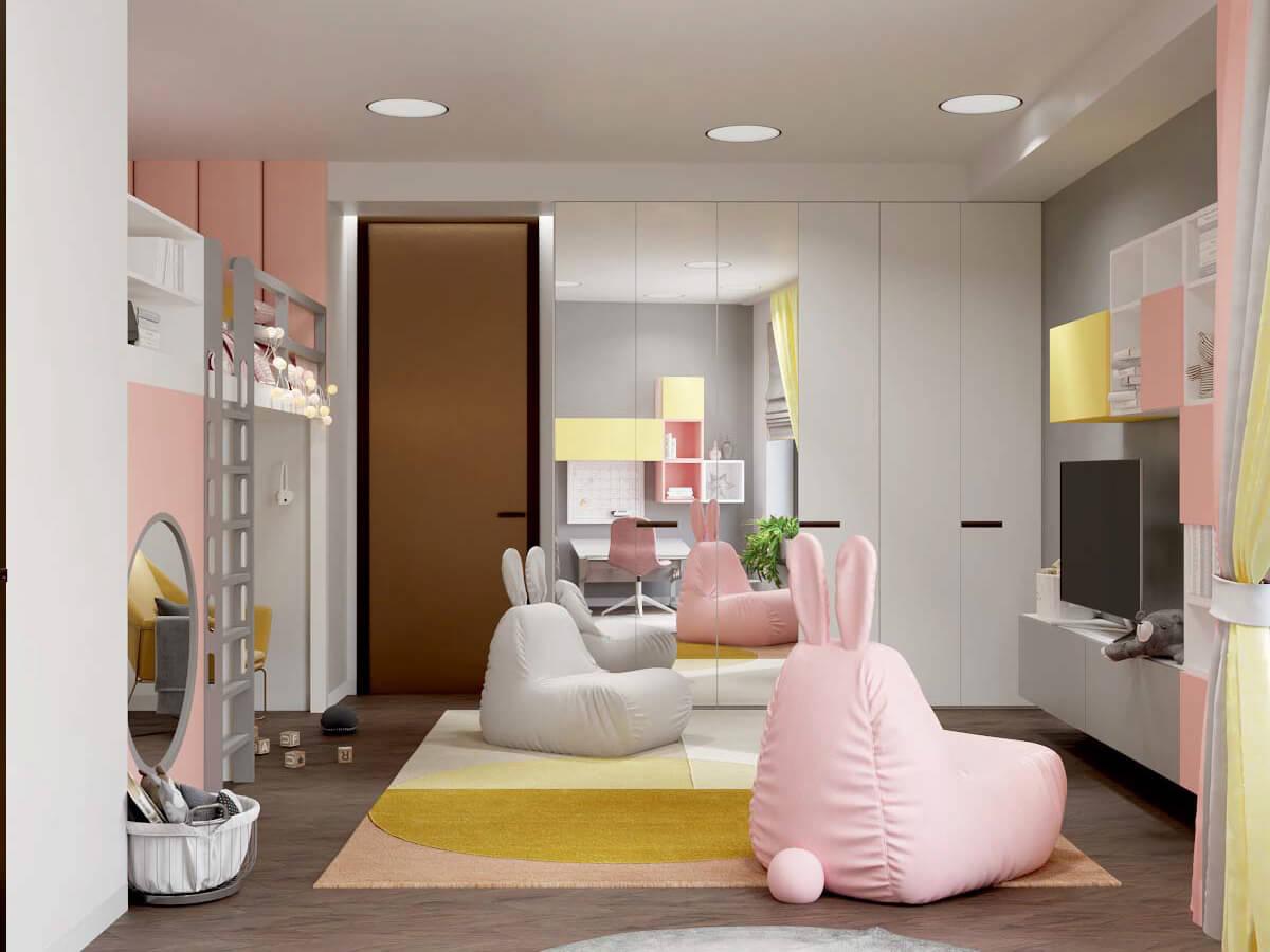 Мебель в комнату девочки 6 лет проект 3751-2